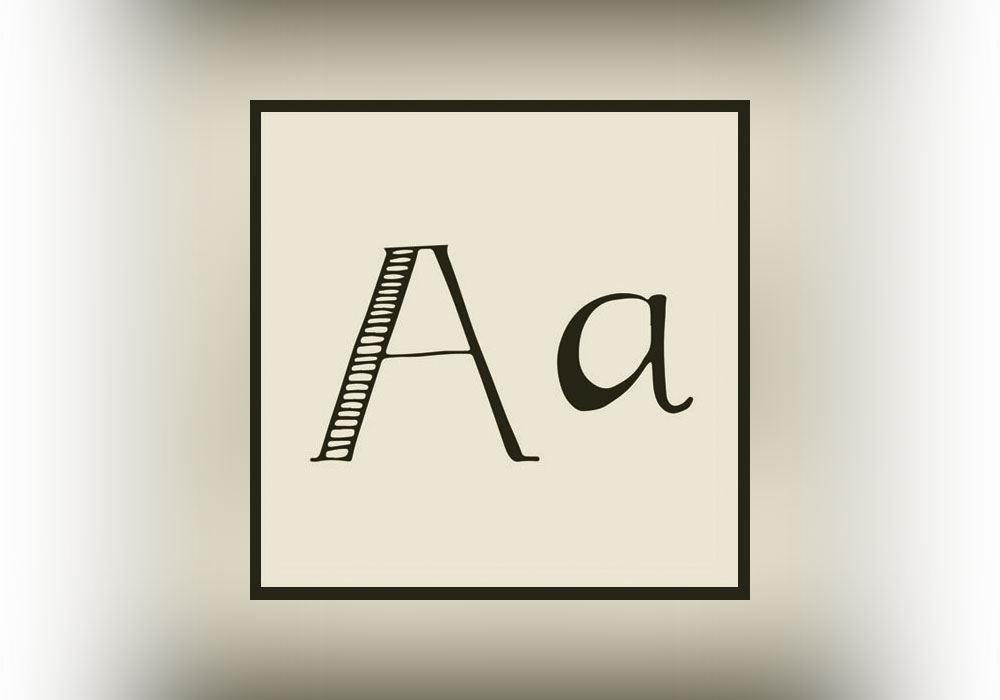 hand-drawn letter A