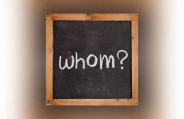 whom, chalkboard