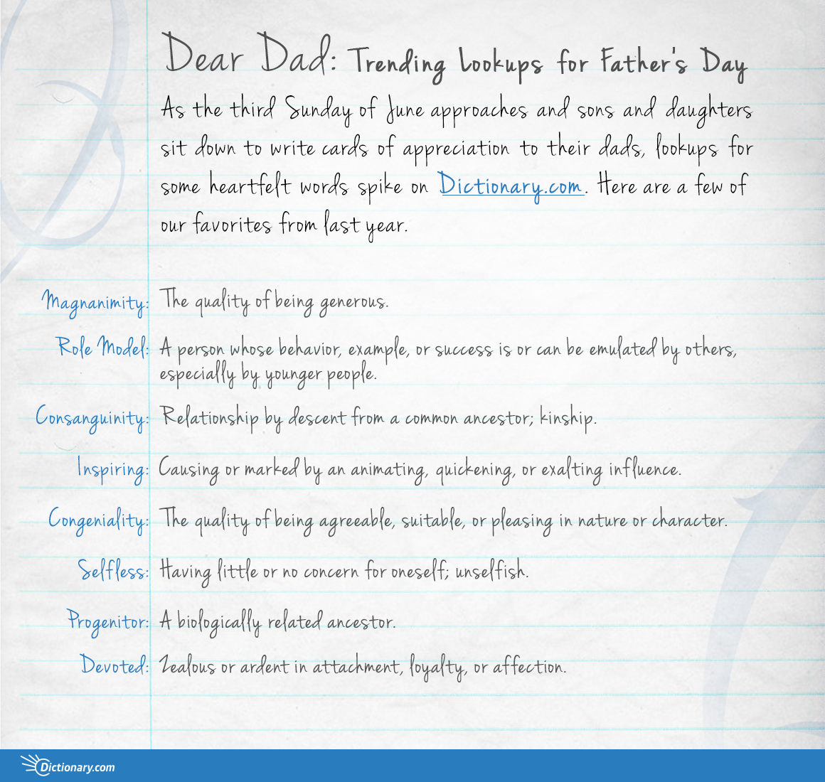 Dear Dad Trending Lookups for Fathers Day  Everything After Z