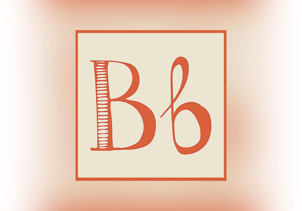 letter b, cursive